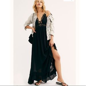 Free People Dresses - FP One Adella Maxi Slip dress. Small. Black